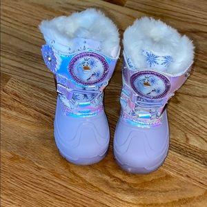 Frozen snow boots